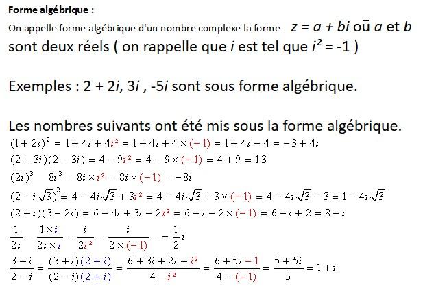 Forme algébrique