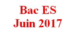 Sujet corrigé du Baccalauréat ES de juin 2017.