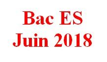 Sujet corrigé du Baccalauréat ES de juin 2018.