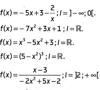 Exercices: Limites de fonctions polynômes, fractionnaires