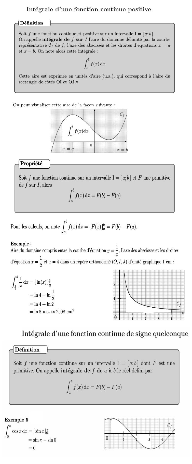 integrale d'une fonction continue